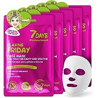 7 DAYS mask 5 st. uppfriskande serum färska dagliga kokosnötsextrakt