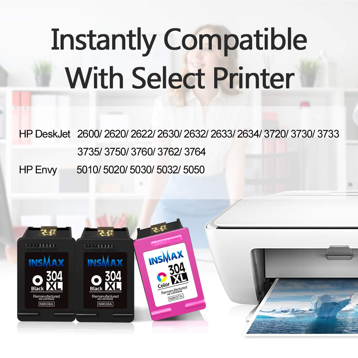 Insmax - Cartuchos de Tinta reciclados HP 304XL 304 de Alto ...