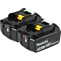 2-Pack Makita BL1830B-2 18V LXT Lithium-Ion 3.0Ah Battery