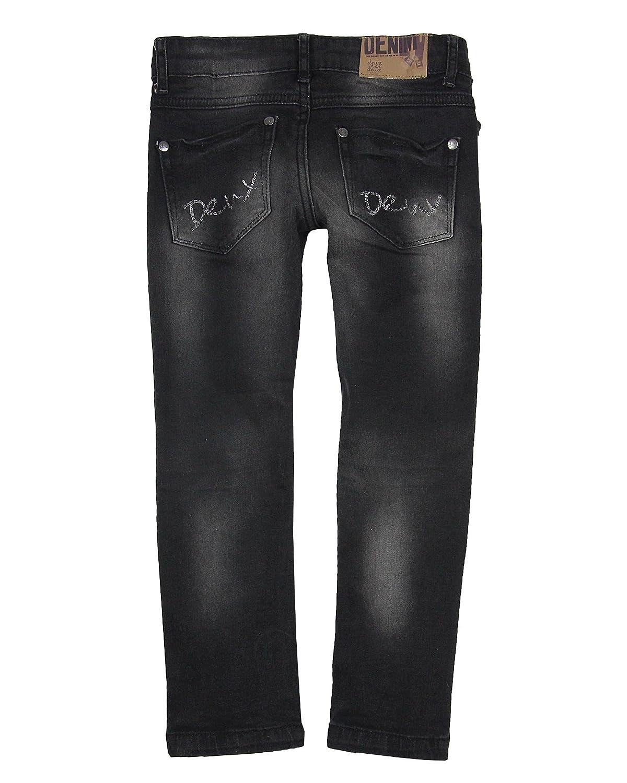 Sizes 2-12 Deux par Deux Girls Basic Denim Pants Black