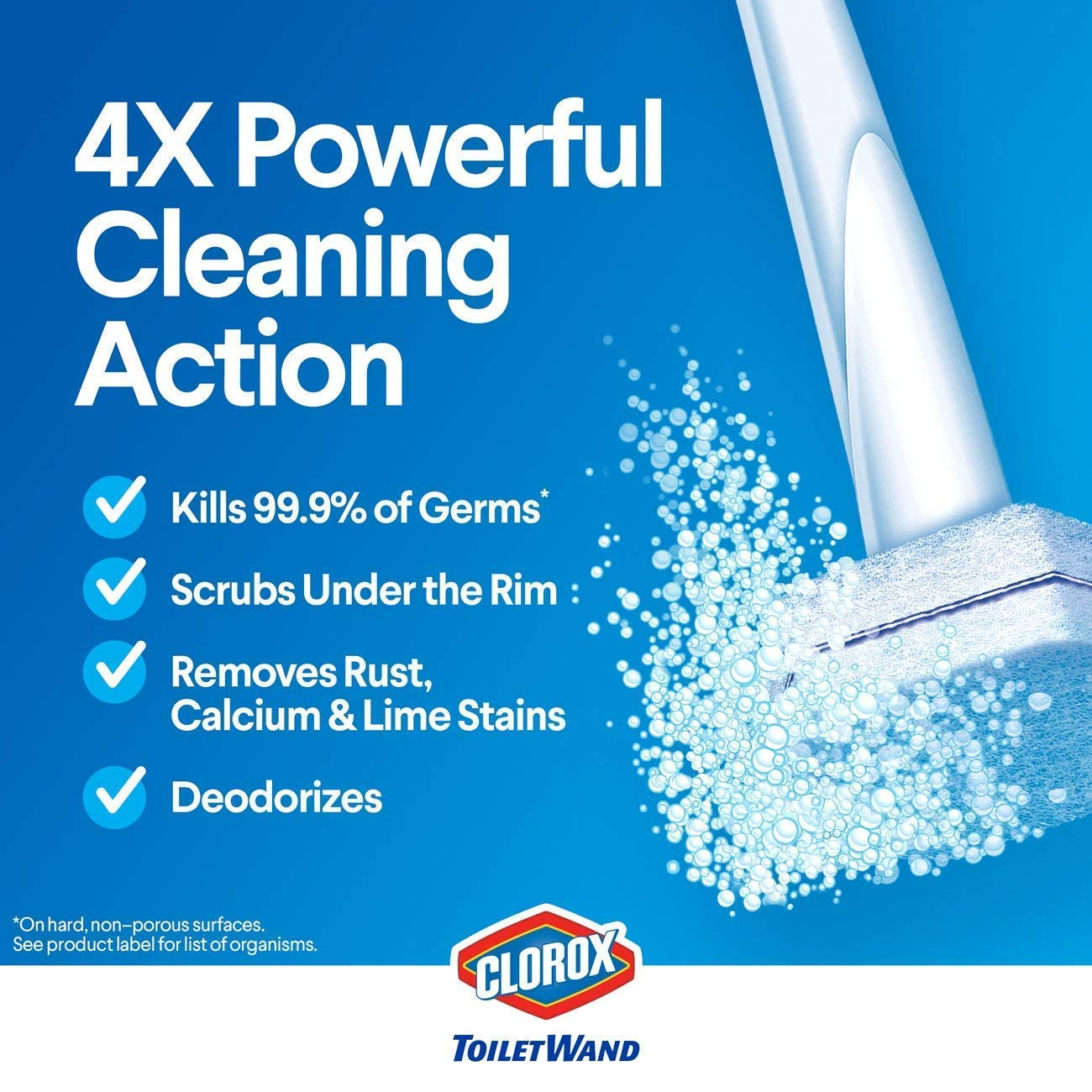 Clorox Toilet Wand Disposable Toilet Cleaning Rainforest Rush Refill, 30 Count Total (4 Pack(30 Count)) by Clorox Toilet Wand (Image #6)
