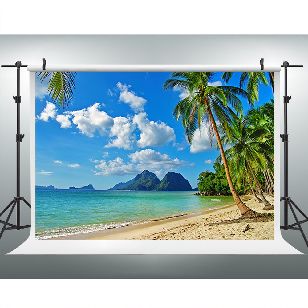 Maijoeyy 7ftx5ft Tropical Backdrop Beach Photo Backdrop Picture Moana Party Photography Props S-572