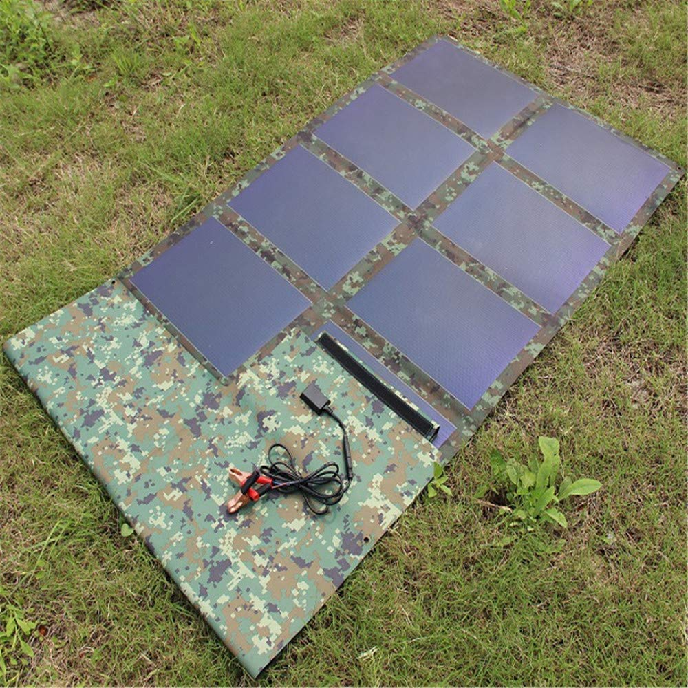 Four Solar Charger, Outdoor Portable Solar Panel Lightweight Solar Charger Compatible with All Mobile Phones