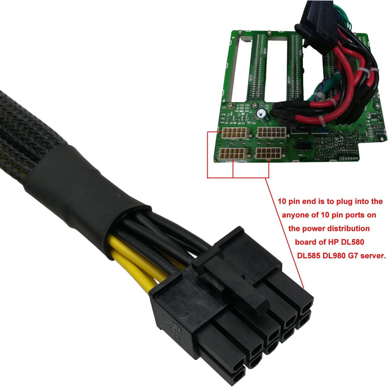 COMeap Motherboard 10 Pin to PCI-E 8 Pin SATA IDE Molex Power ...