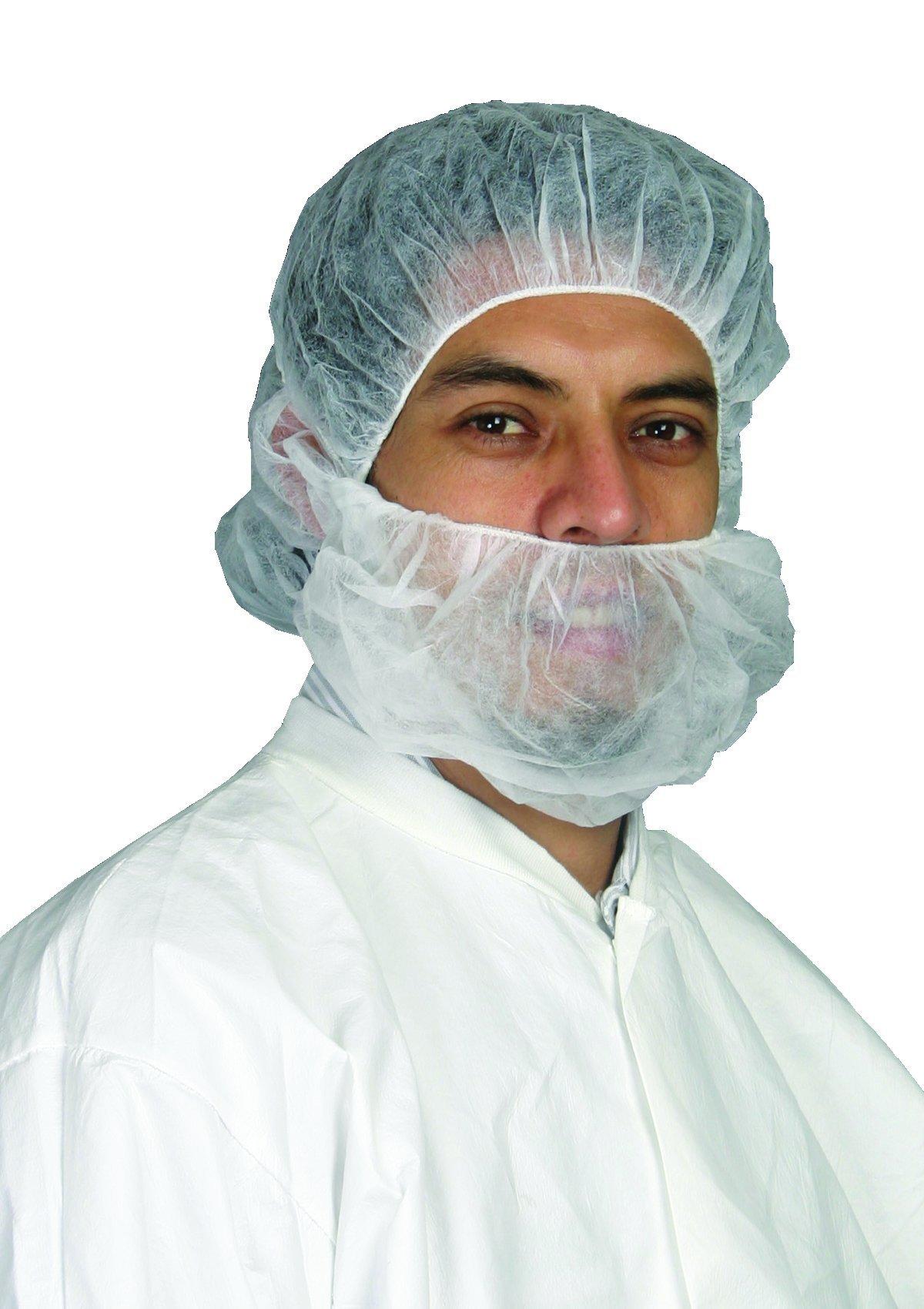 Epic 90088-5 Polypropylene Beard Covers, Capacity, Volume, Polypropylene, Universal, White (Pack of 500)