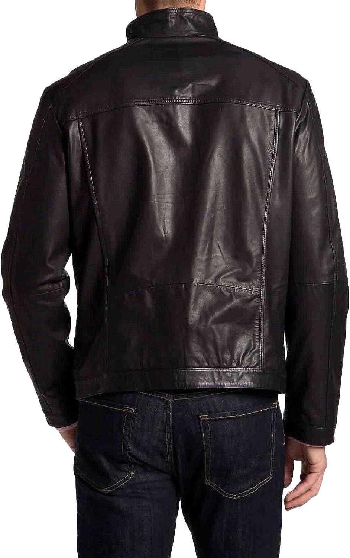 Kingdom Leather Men Slim Fit Biker Motorcycle Cow Leather Jacket Coat Outwear Jackets XC1269