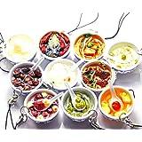 おもしろ 食品サンプル ストラップ キーホルダー 中華 10点 セット (中華10個)