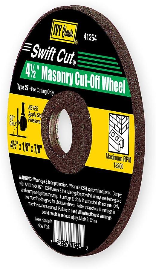 "Masonry Concrete Cutoff wheel Depressed center 4-1//2/"" x 1//8/"" x 7//8/"" 10 PACK"