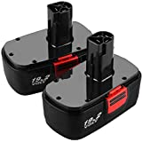 [Upgraded to 3.6Ah] 2 Pack Replace for Craftsman 19.2 Volt Battery C3 DieHard 130279005 130279003 130279017 315.115410…