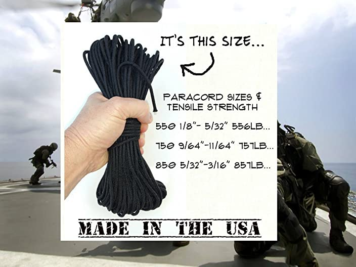 Lifetime Exchange... 850 Black Paracord 100 Feet