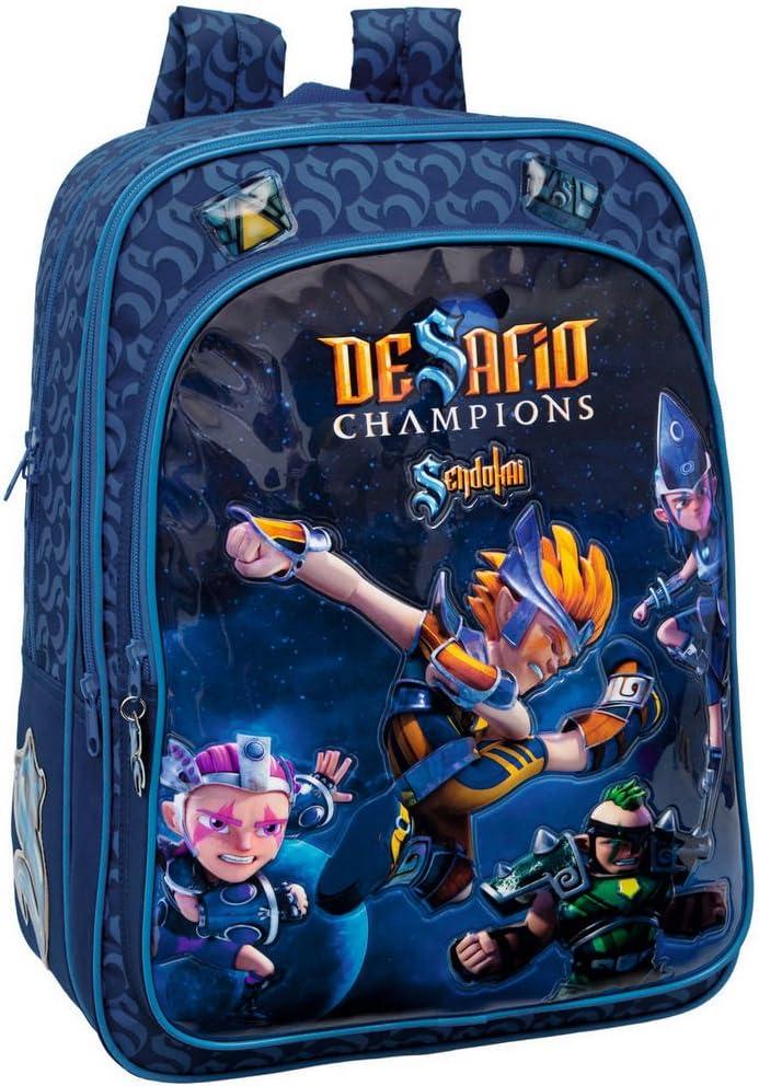 Desafio Champions Mochila, 42 cm, Azul: Amazon.es: Equipaje