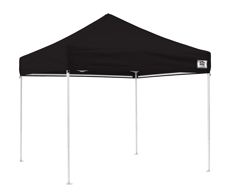 Impact Canopies Easy Pop Up Tent 10x10 Canopy Black Amazonca Patio Lawn Garden