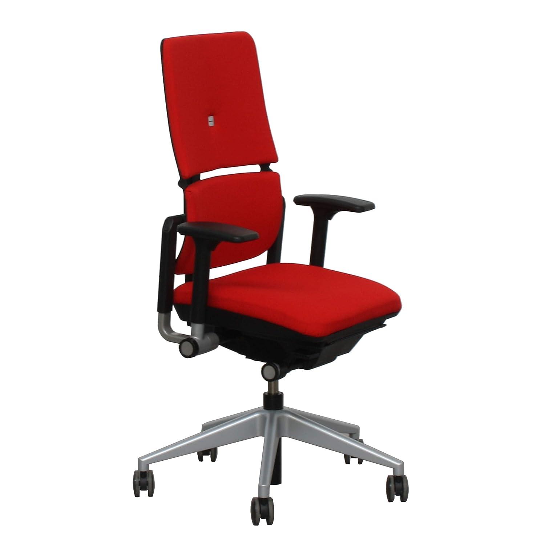 Steelcase Please II , roja, altura , profundidad, ajuste lumbar.