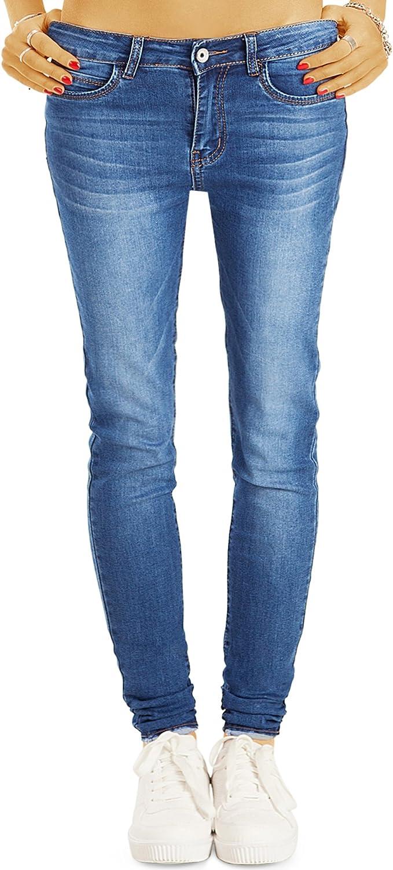 bestyledberlin Damen SkinnyJeans, Basic Blue Jeans, Sehr Enge Röhrenjeans j32l