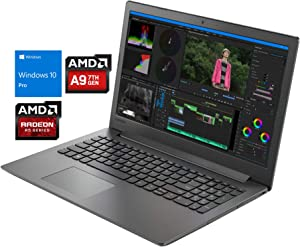 "Lenovo IdeaPad 130 Notebook, 15.6"" HD, AMD Dual-Core A9-9425 Upto 3.7GHz, 8GB RAM, 512GB SSD, DVD-RW, HDMI, Card Reader, Wi-Fi, Bluetooth, Windows 10 Pro"