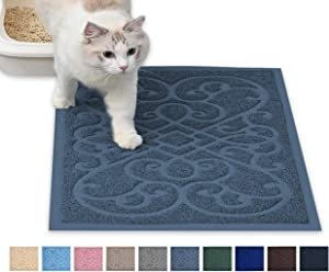PetLike Cat Litter Mat Kitty Litter Mats, Traps Litter from Box and Cats, Cat Litter Trapping Mat Pet Feeding Mat, Soft on Kitty Paws
