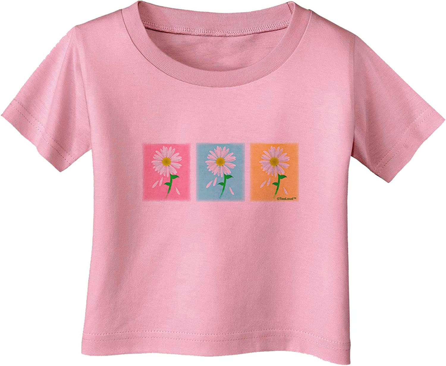 TooLoud Pretty Daisies Watercolor Infant T-Shirt