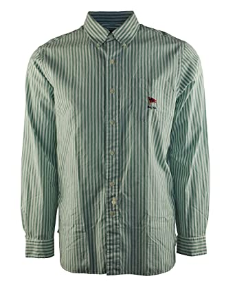 6c730cb642 Image Unavailable. Image not available for. Color: Polo Ralph Lauren Men's  Long Sleeve Striped Oxford Mercer Shirt (Green ...