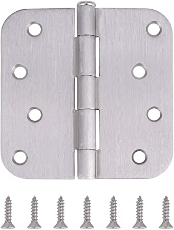 5//8 Radius Corner by Dependable Direct Pack of 1 Residential Door Hinge 4 Inch Satin Chrome Finish