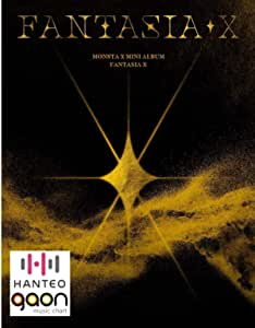 Monsta X Mini Album Fantasia X (Incl. Pre-Order Benefits : Poster, Unit Photocard, Color Instant Photo, Triangle Stand, One Random Acrylic Photocard) (Random Version)