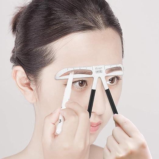Mefe - Regla profesional para cejas, para medir cejas, herramientas de maquillaje permanentes, cejas de estilo europeo: Amazon.es: Belleza