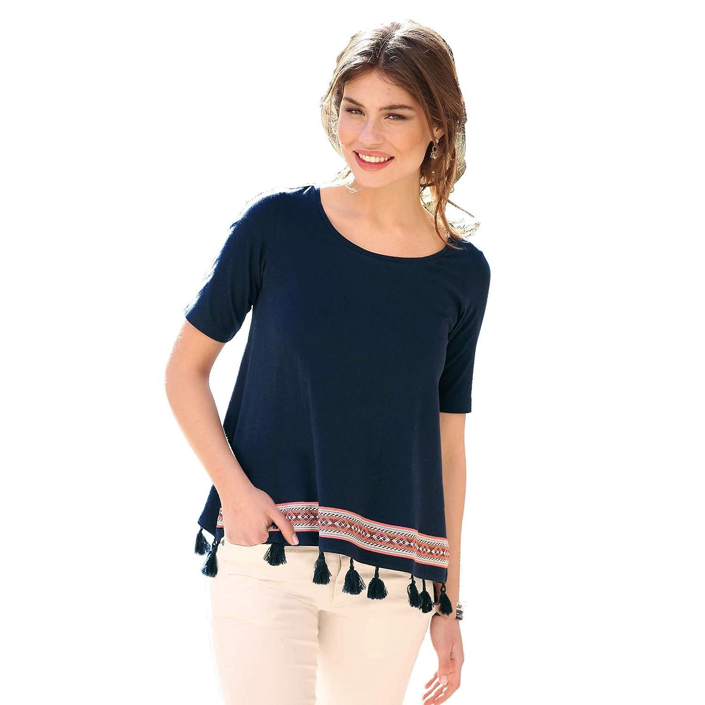 TALLA S. Camiseta Escote Redondeado y Manga Corta Mujer by Vencastyle - 016504