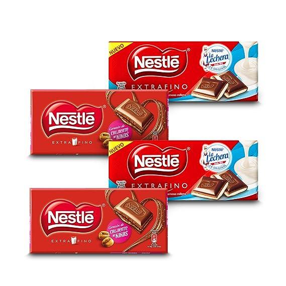Nestlé Chocolate Extrafino - Pack de 2 Relleno de Kikos (120 g) + Pack