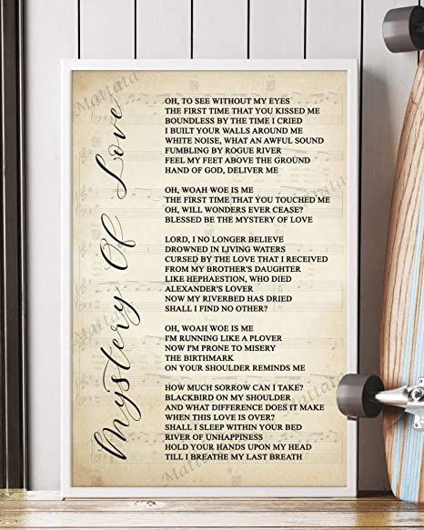 Amazon Com Mattata Decor Gift Mystery Of Love Song Lyrics Sheet Music Portrait Poster Print 12 X 18 Kitchen Dining His brother has a daughter, he has another line about his niece in his another edit: amazon com