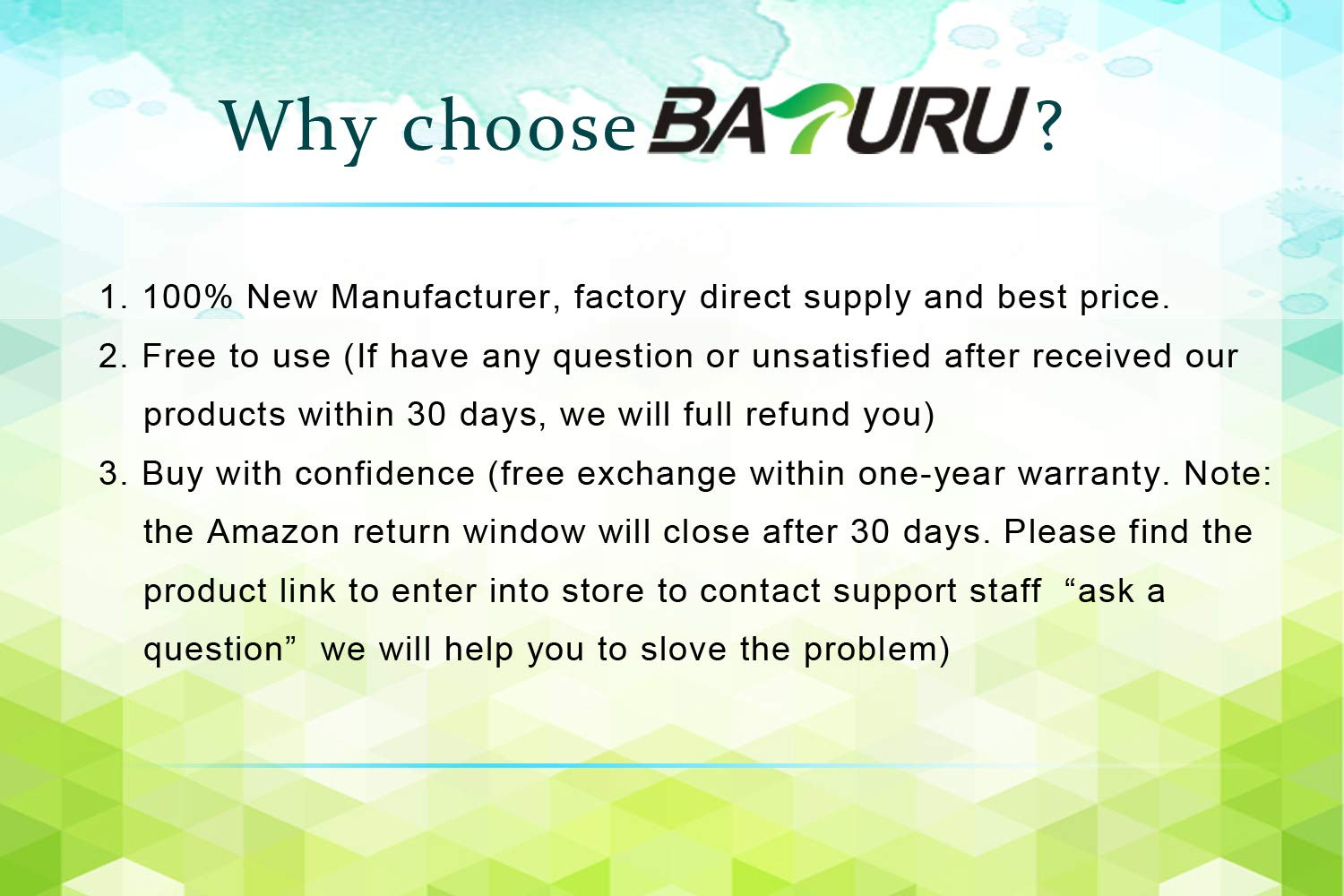 BATURU A1322 Laptop Battery for MacBook Pro 13 inch A1322 A1278 (mid 2009 2010 Early 2011 Late 2012 Version) MB990LL/A MC724LL/A MD314LL/A 020-6547-A - 12 Month Warranty by BATURU (Image #7)