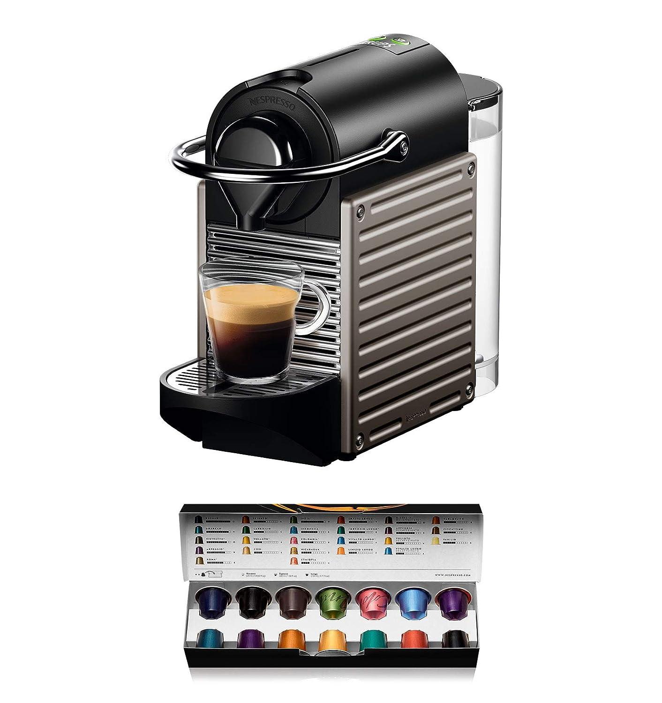 Nespresso XN304T Pixie Titán EU, 1260 W, 0.7 litros, Acero ...