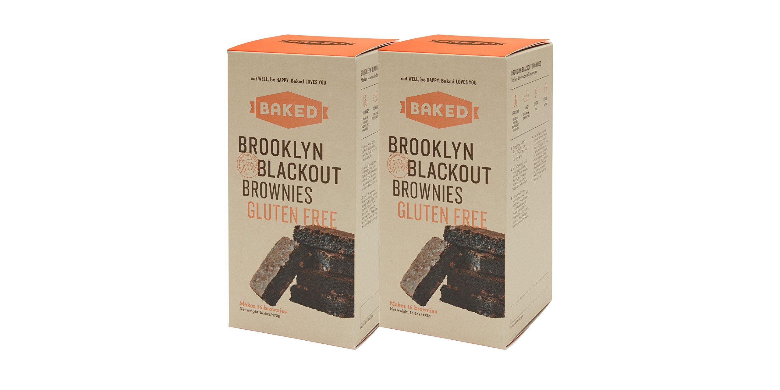 Baked Gluten Free Brooklyn Blackout Brownies, Dark Chocolate Chunks, 16.6 Ounce by BakedNYC
