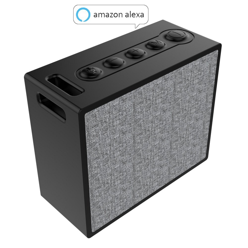 Xinlitong Smart Bluetooth Speakers,Portable WiFi Speaker with Amazon Alexa,Multi-Room Music,Stream Online Music,Voice Control and Smart Home Control,IP56 Splashproof Subwoofer Stereo Sound.- Black