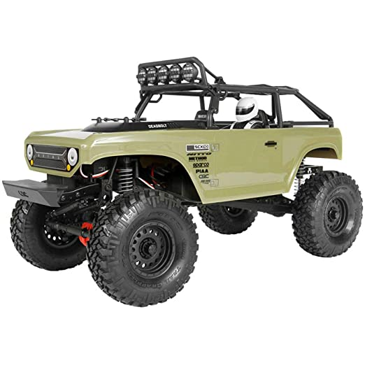 Axial SCX10 II Deadbolt 4WD RC Rock Crawler Off-Road 4x4 Electric RTR with  2 4GHz Radio, Waterproof ESC, 1/10 Scale (Olive Drab)