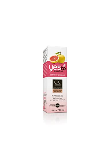Yes To Grapefruit Light SPF 18 Color Correcting Cream, 1 7 Ounce