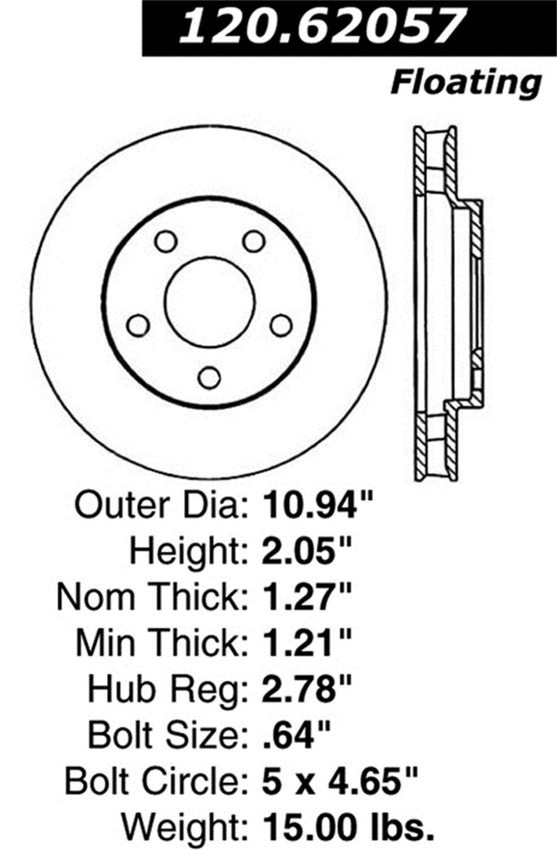 Power Slot 126.62057CSL Slotted Brake Rotor