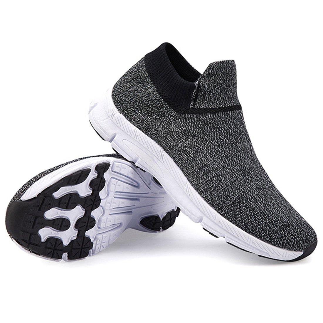 VIFUUR Girls Boys Socks Shoes Fashion Casual Walking Shoes Breathable Lightweight Sneakers for Kids Black/White-34