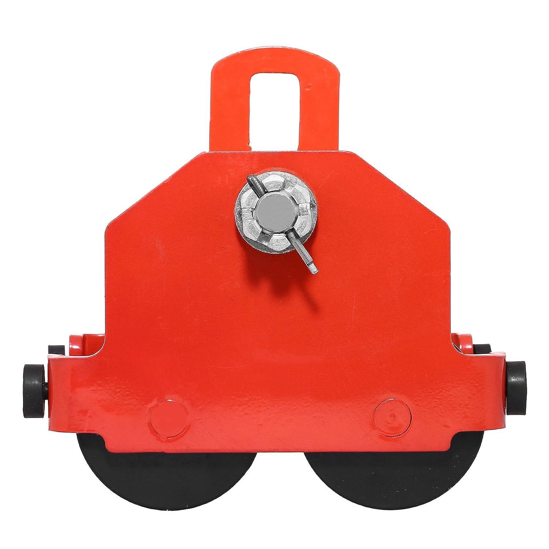 Olibelle 1T//2200LBS Chariot /à Poutre Poussoir Chariot Grue Manuel /à Poutre Push Beam Trolley pour Installation de Machines et d/'Equipements et Levage de marchandises