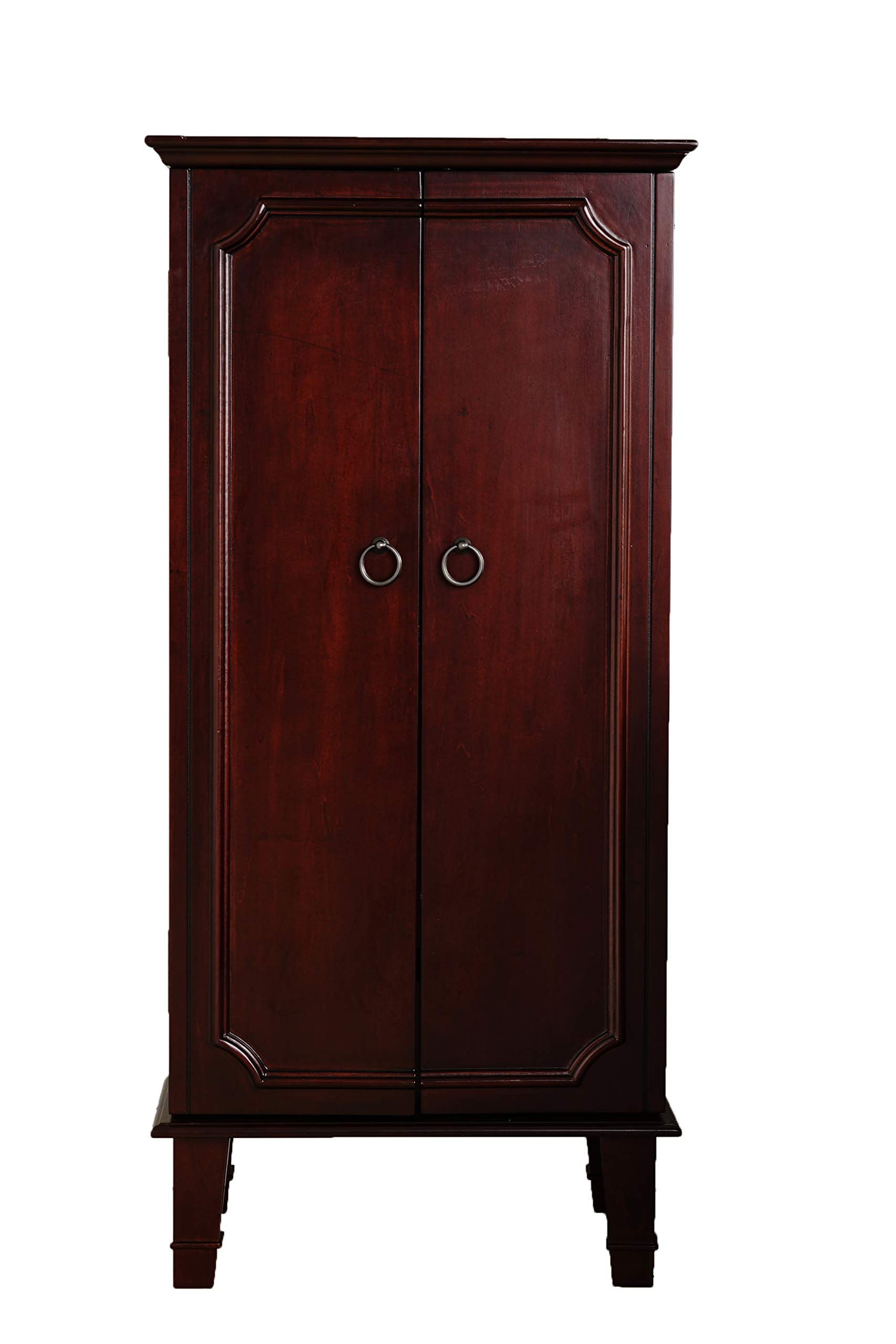 Hives and Honey Cabby Fully Locking Jewelry Cabinet, Cherry