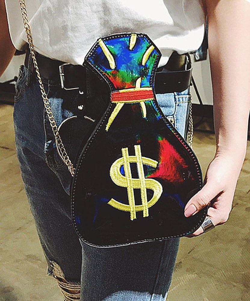 Womens PU Hologram Laser Money bag Design Purse Handbags Cross-Body Messenger Shoulder Bag
