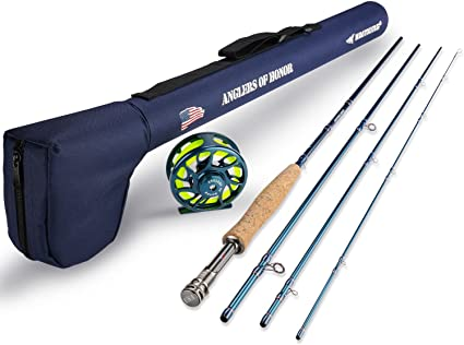 Amazon Com Kastking Anglers Of Honor Fly Fishing Combos 3 Wt 7ft 6in Mf Fly Rod 3 And 4 Reel Sports Outdoors