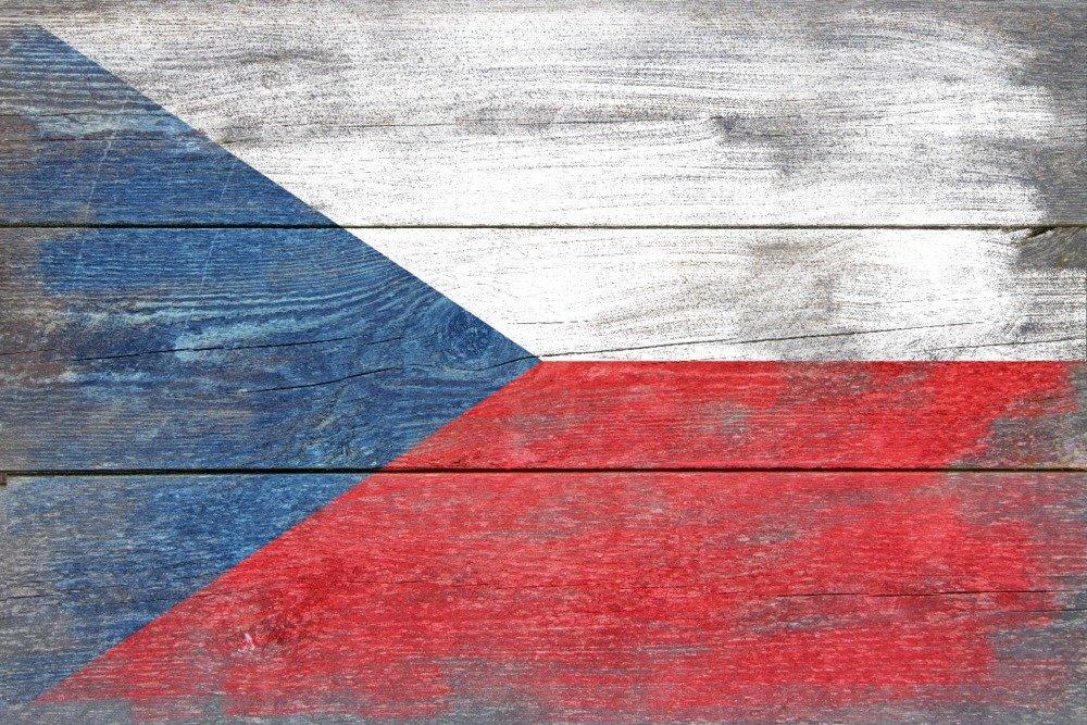 素朴なチェコ共和国国フラグ 36 x 54 Giclee Print LANT-66493-36x54 36 x 54 Giclee Print  B01MCX482N