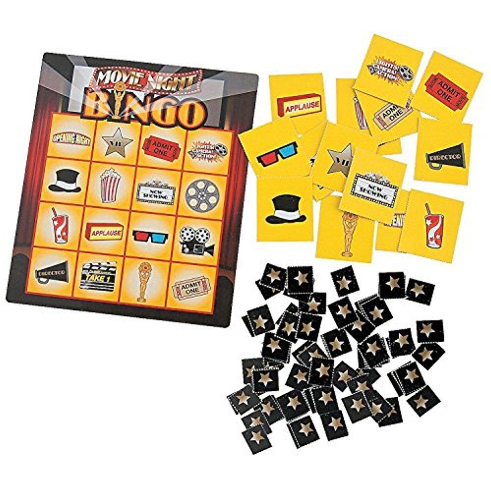 Fun Express Movie Night Bingo Party Game