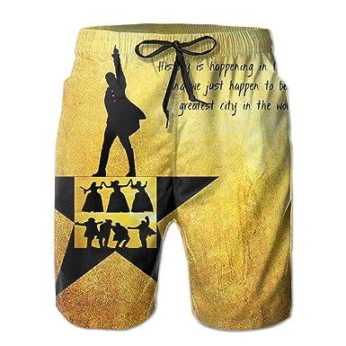 65eade380b171 Alexander Lin Manuel-Miranda Hamilton Men's Swim Trunks Quick Dry Swimwear  Beach Shorts with Mesh