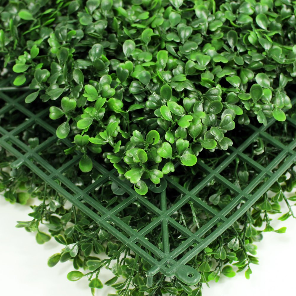20 x 20 UV Protection 15 Years Life Span Indoor Outdoor Greenery Topiary for Home Backyard Garden Decoration Privacy Fence Genpar Artificial Boxwood Hedge Covers 33 SQ feet 12 Panels Dark Green