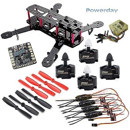 powerday diy qav250 zmr250 quadcopter full carbon frame kit &emax mt2204  2300kv motor &simonk 12a esc