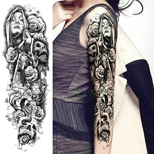 Handaxian 3pcs Impermeable Etiqueta engomada del Tatuaje Hermosa ...