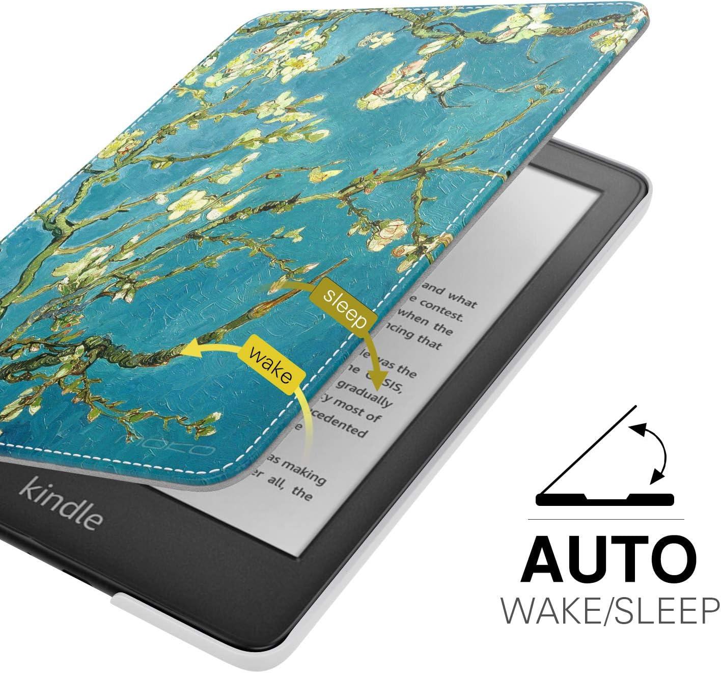Premium Smart Cover en Cuir PU avec /Éveille//Veille Automatique Pas Compatible avec Kindle Paperwhite 10/ème g/én/ération, 2019 MoKo Coque Compatible avec Liseuse Kindle Dessin au Trait