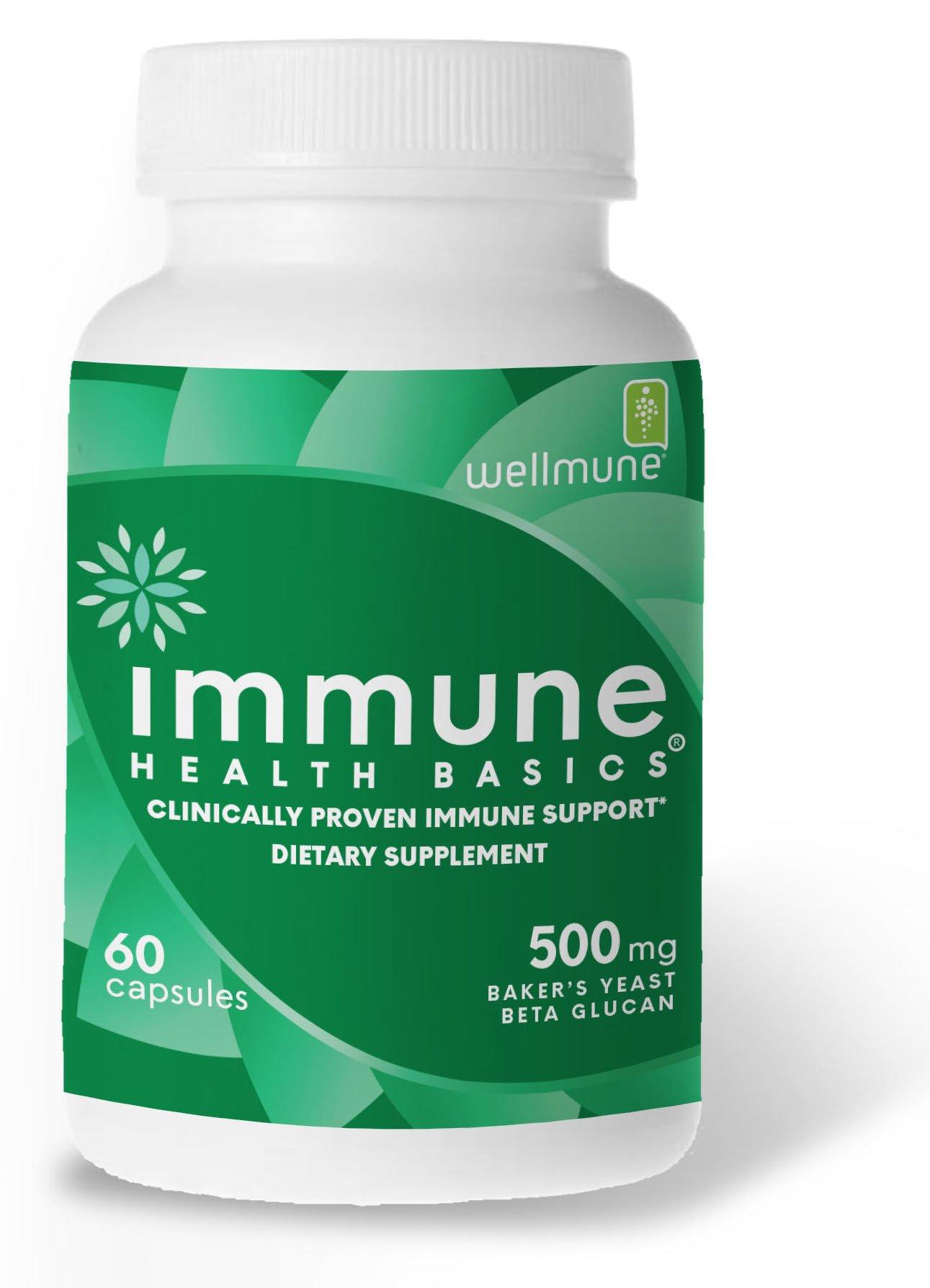 Immune Health Basics - Wellmune Beta glucan 500 mg Immune Support, 60 Veg Capsules