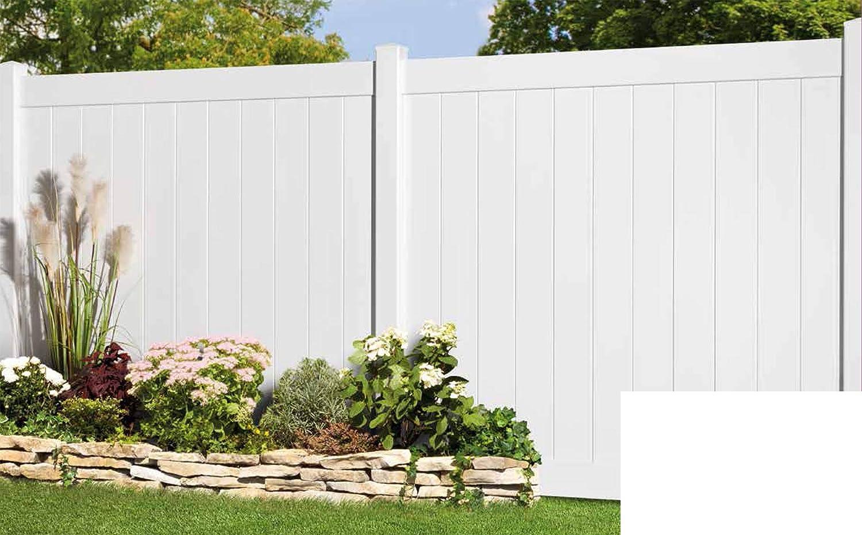 Longlife Sichtschutz Zaun Kunststoff Weiss 170x170cm Aus Extrem