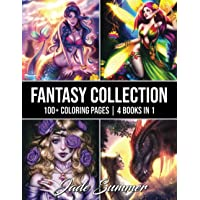 Fantasy Collection: An Adult Coloring Book with 100+ Incredible Coloring Pages of Mermaids, Fairies, Vampires, Dragons…